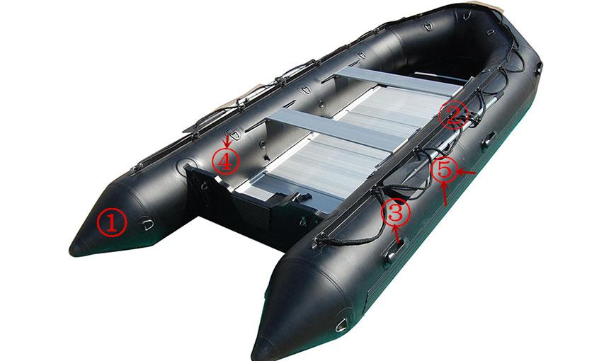PVC Inflatable Boats, Military Boats, Water Rafting