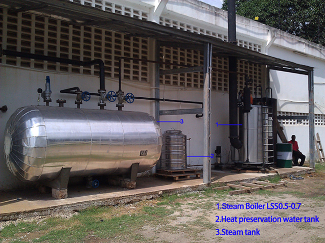oil steam boiler house