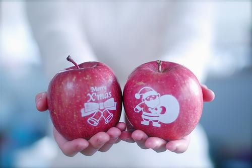 Manzana de la Navidad de la máquina de la tecnología de U