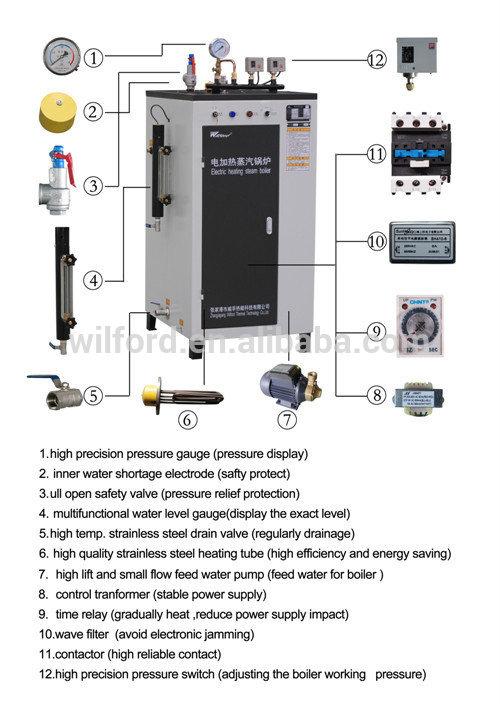 100-200 high efficient electric steam boiler