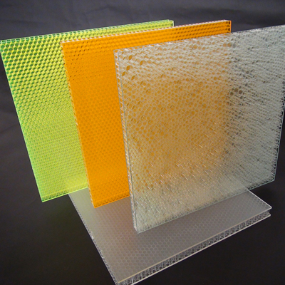 optical honeycomb composite panel