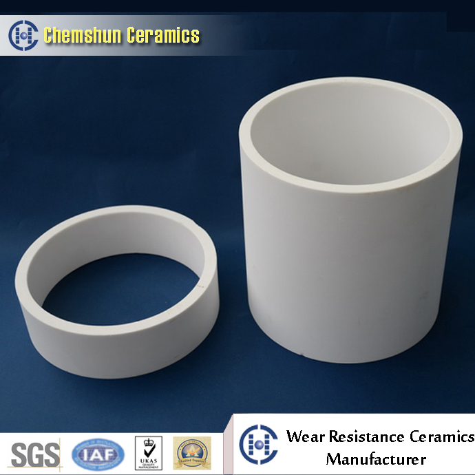 alumina ceramic wear resistant pipe linings for slurry delivery