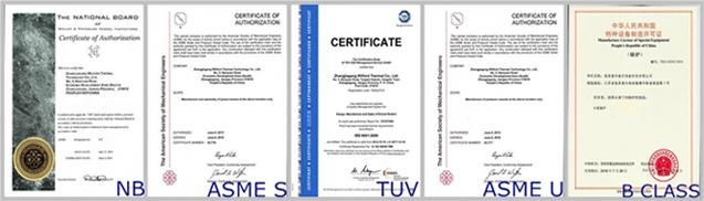 horizontal electric steam boiler certificates
