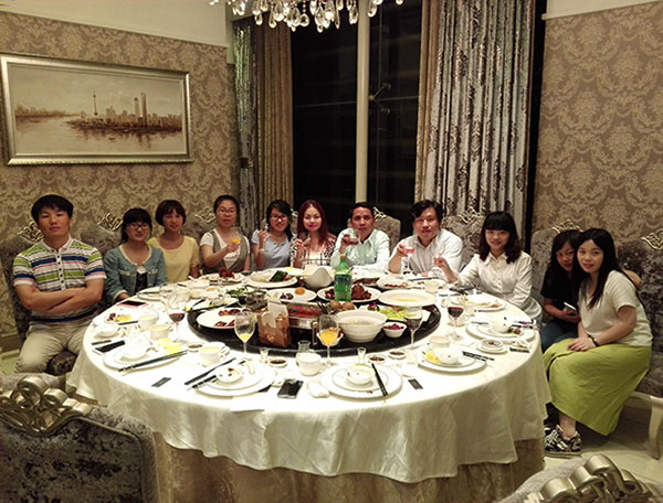 SEFIC Cambodia clients have dinner
