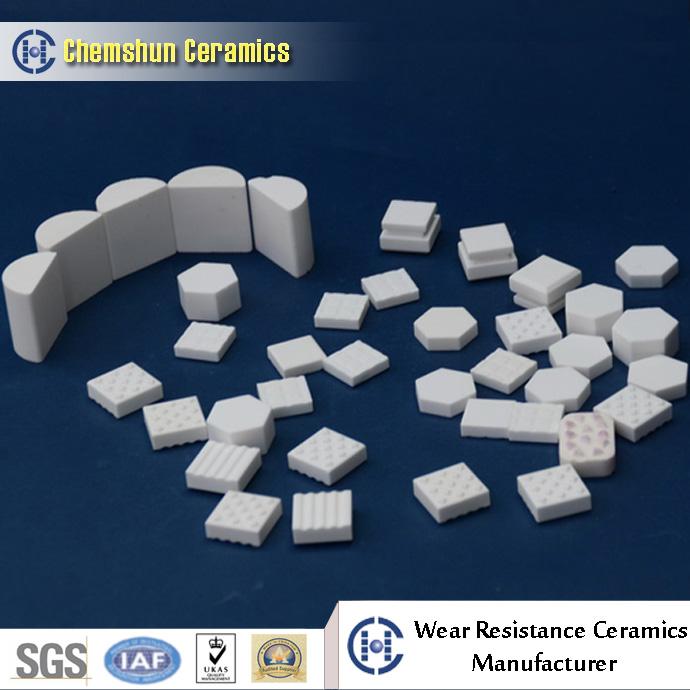 abrasion resistant alumina ceramic liners for vulcanized