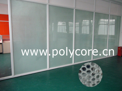 PC honeycomb composite panel partition