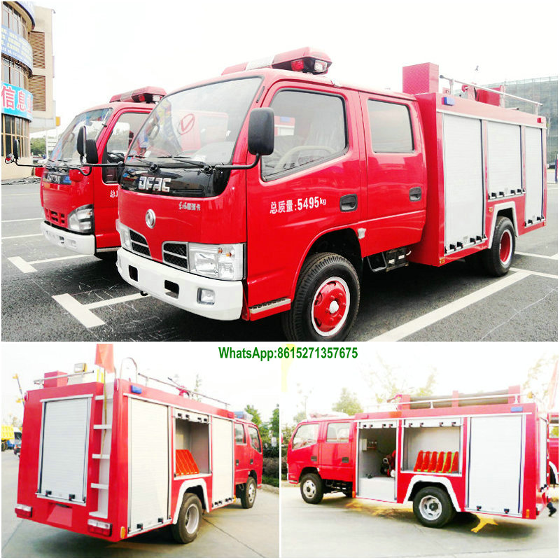 China Dongfeng 4000L size of fire truck, water tank fire truck 391