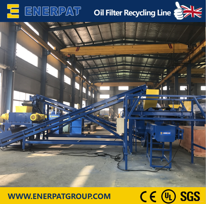 Enerpat Oil Filter Recycling Line-1
