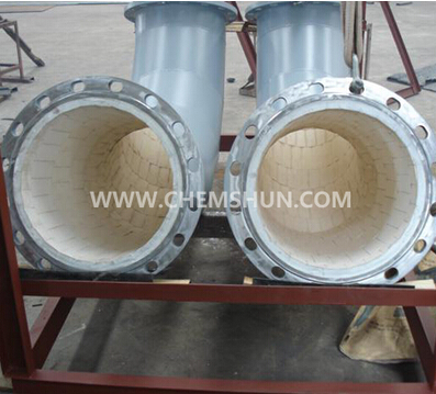 ceramic lined pipe for materials handling