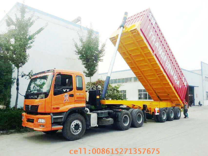 container tipper vehicles-03- container tipping trailer