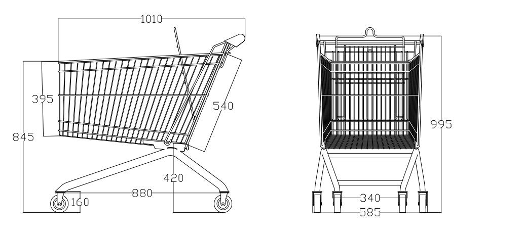 European Style Shopping Cart (YRD-A180)