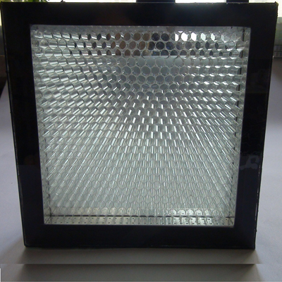 PC honeycomb in glass