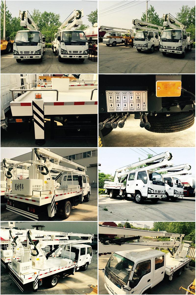 ISUZU 16-18M TELESCOPIC BOOM TYPE AERIAL WORK PLATFORM TRUCK303