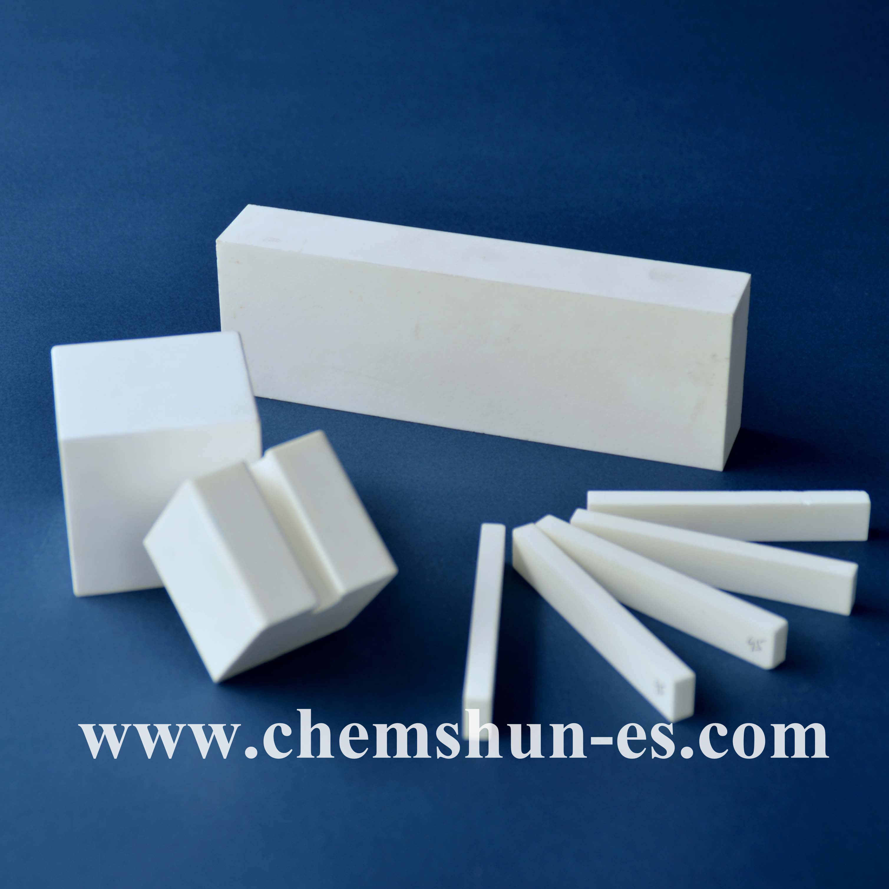 alumina tile linings anti-corrosion for mineral powder Conveying