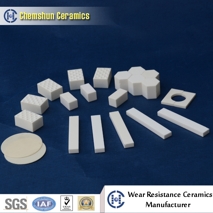 alumina ceramic tiles for cement wear parts